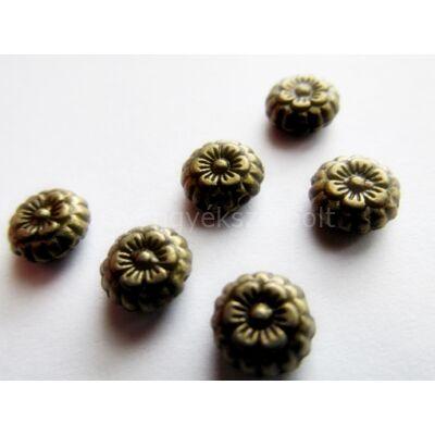 Bronz diszkosz köztes gyöngy 8 mm