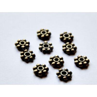 20 db bronz mini margaréta köztes gyöngy 4mm
