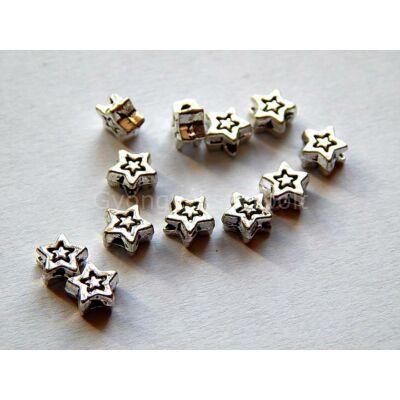 Antik ezüst csillag köztes 6mm