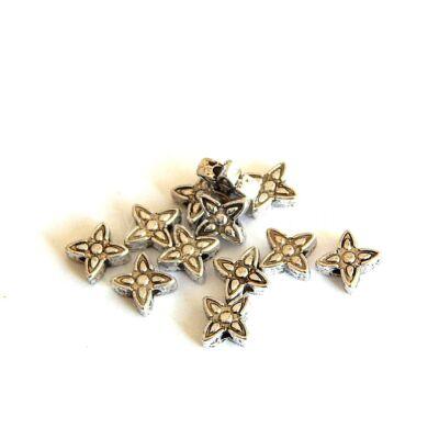 Antik ezüst csillagvirág köztes 5mm