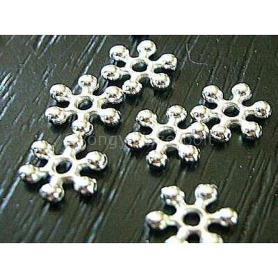 Ezüst hópihe köztes gyöngy 8 mm