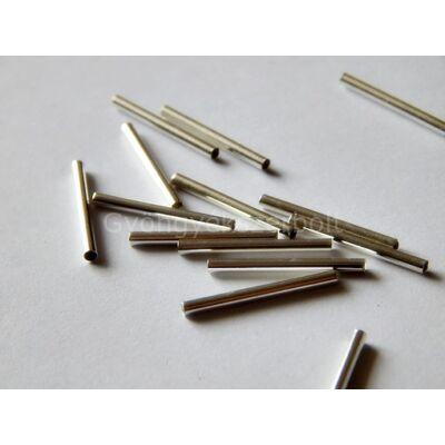 Ezüst egyenes sima cső köztes 20 mm