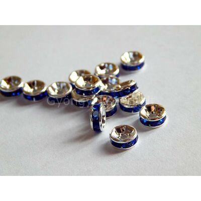 Ezüst rondelle köztes A 8 mm sapphire