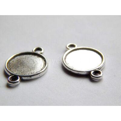 Antik ezüst kétoldalas kör kaboson alap 10
