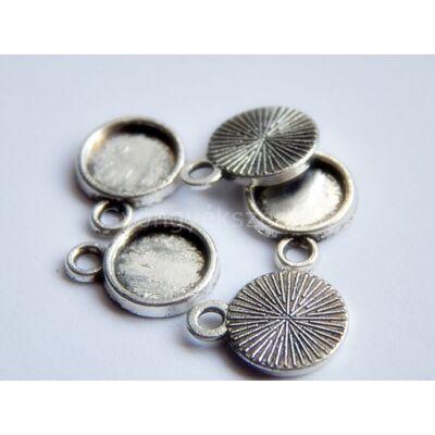 Antik ezüst mini kaboson alap 8 mm