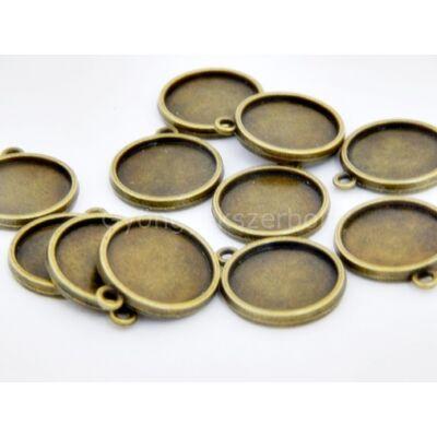 Bronz kétoldalas kaboson alap 16 mm