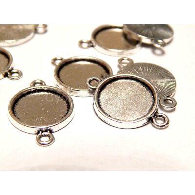 Antik ezüst kaboson alap összekötő 14 mm