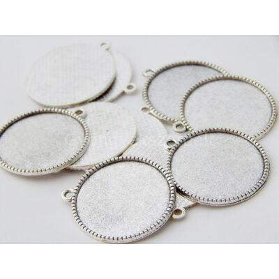 Antik ezüst kaboson alap 25 mm