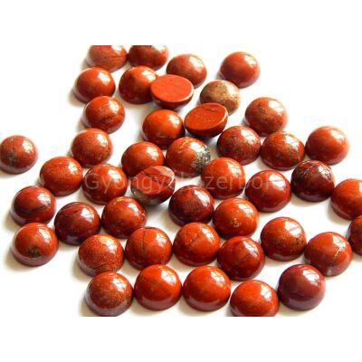 Vörös jáspis ásvány kaboson 10 mm