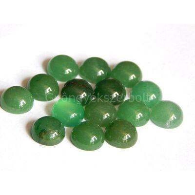 Zöld jáde ásvány kaboson 10 mm