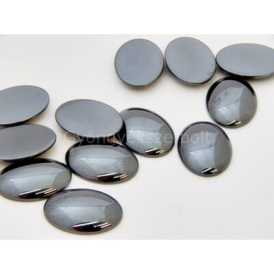 Hematit ásvány kaboson 18x25 mm