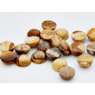 Képjáspis ásvány kaboson 10 mm