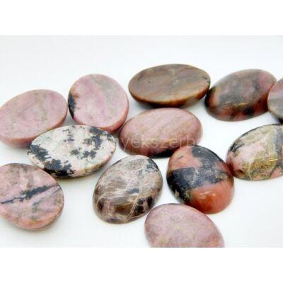 Rodonit ásvány kaboson 18x26 mm