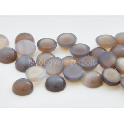 Szürke achát ásvány kaboson 10 mm