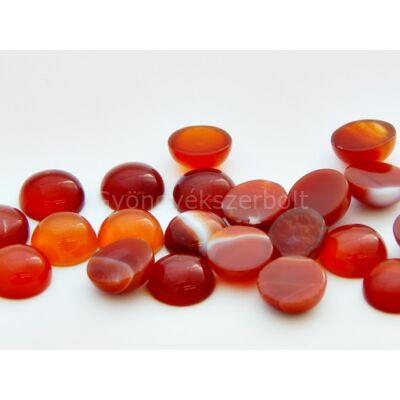 Vörös achát ásvány kaboson 10 mm