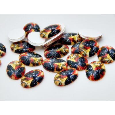 Autumn butterfly üveg kaboson 18x13 mm