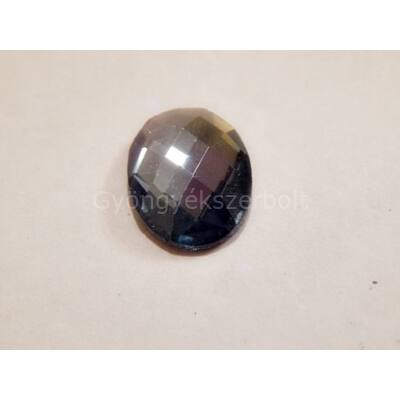 Black diamond csiszolt üveg kaboson 18x13 mm