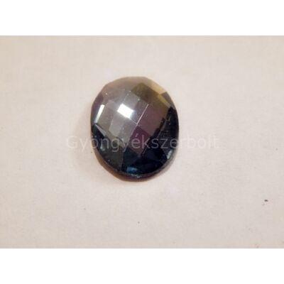 Black diamond csiszolt üveg kaboson 18x13 mm