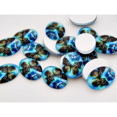 Deep sea butterfly üveg kaboson 18x13 mm