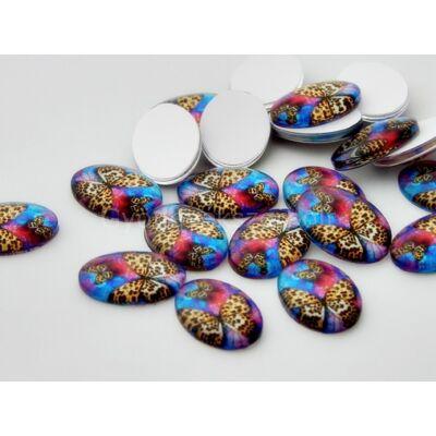 Rainbow butterfly üveg kaboson 18x13 mm