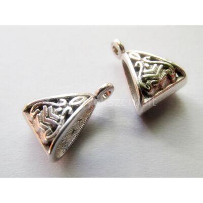 Antik ezüst háromszög medáltartó
