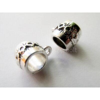 Antik ezüst hordó medáltartó