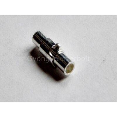 Ezüst ragasztható mágnes kapocs 3 mm