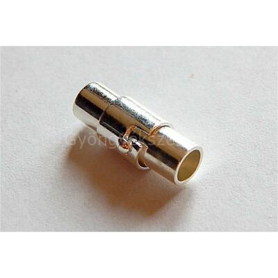 Ezüst ragasztható mágnes kapocs 4 mm