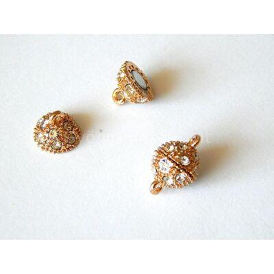 Rosegold strasszos mágnes kapocs 15x10