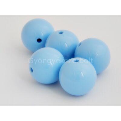 Babakék mega műanyag gyöngy 25 mm