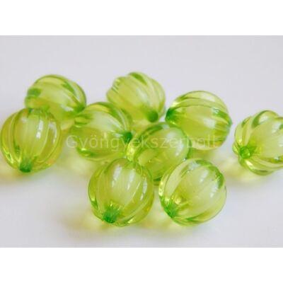 Olíva melon akril gyöngy-a-gyöngyben