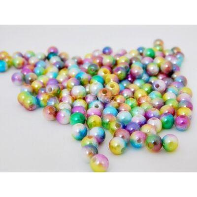 20 db tarka fesztivál műanyag TEKLA gyöngy 6 mm