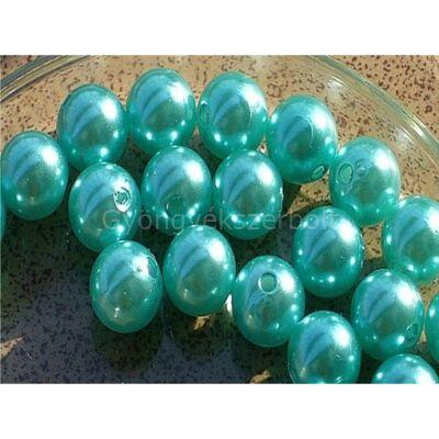 Aquamarine műanyag TEKLA gyöngy