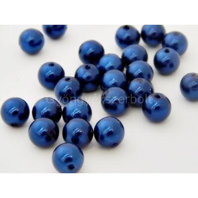 Párizsi kék műanyag TEKLA gyöngy 10 mm