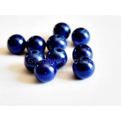 Királykék miracle műanyag gyöngy 10 mm