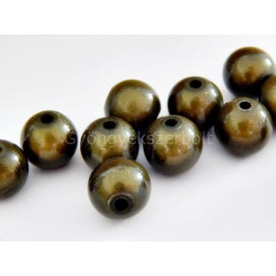 Olíva miracle műanyag gyöngy 8 mm