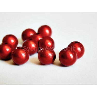 Piros miracle műanyag gyöngy 8 mm