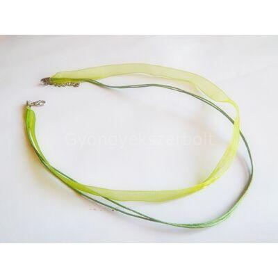 Olíva organza nyaklánc alap 6 mm