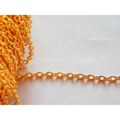 Arany nyers lánc 4x3 mm