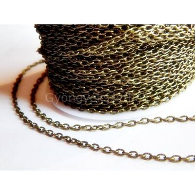 Bronz nyers lánc 4x3 mm