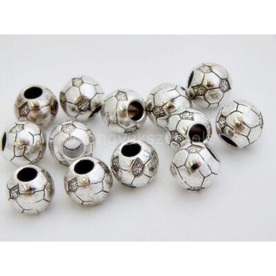 Antik ezüst foci PARACORD gyöngy