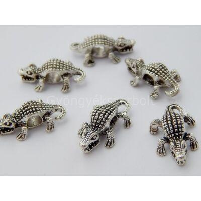 Antik ezüst krokodil PARACORD gyöngy