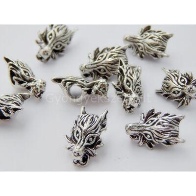 Antik ezüst sárkány PARACORD gyöngy
