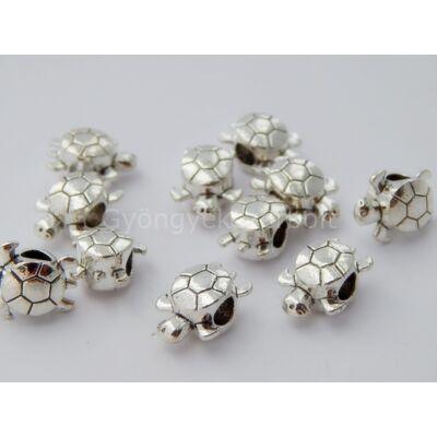 Antik ezüst teknős PARACORD gyöngy
