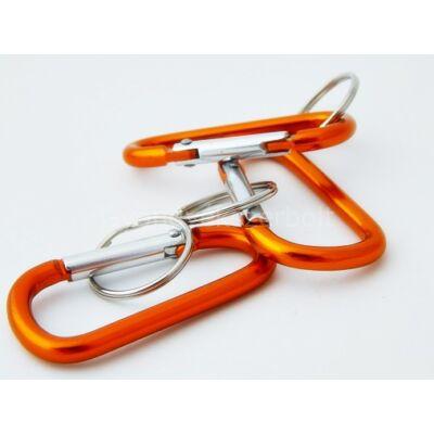 Narancs alumínium karabiner