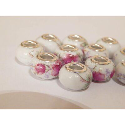 Faded rose porcelán PANDORA gyöngy