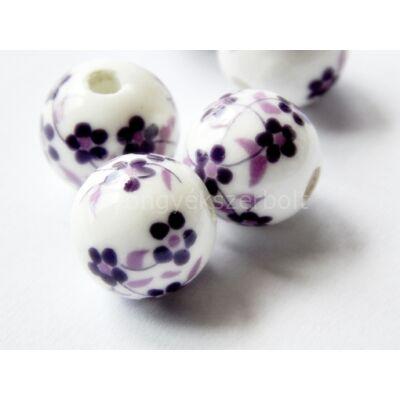 Dusty lavender porcelán gyöngy 12 mm