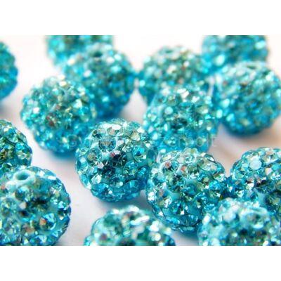 Aquamarine átfúrt SHAMBALLA 8 mm