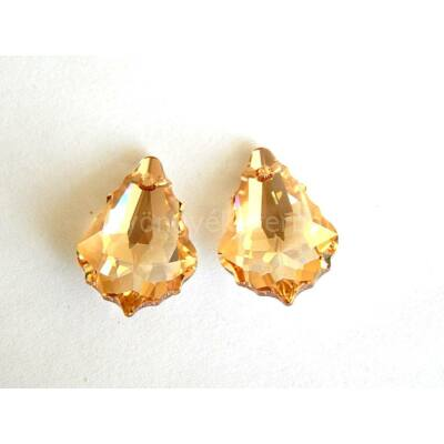 SWAROVSKI baroque crystal golden shadow 22x15 mm