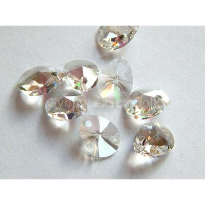 SWAROVSKI xilion mini pear crystal silver shade 10x7.5mm